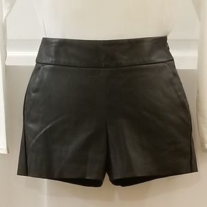 Express Faux Leather Shorts